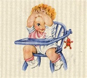 Vintage baby and chair image