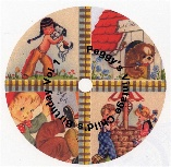 Vintage Birthday CD label
