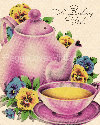 Vintage Birthday Teapot Images