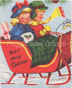 Vintage Sleigh with Kids