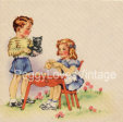 Vintage Boy and Girl